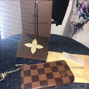 Louis Vuitton Key Pouch Cles Damier Ebene